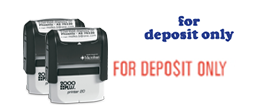 Stock Deposit Only Stamps