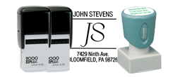 Square Logo Address Stamps